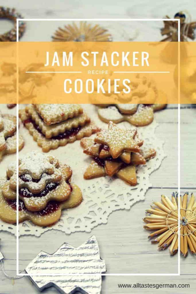 German Christmas Cookies - Jam Stacker Cookies