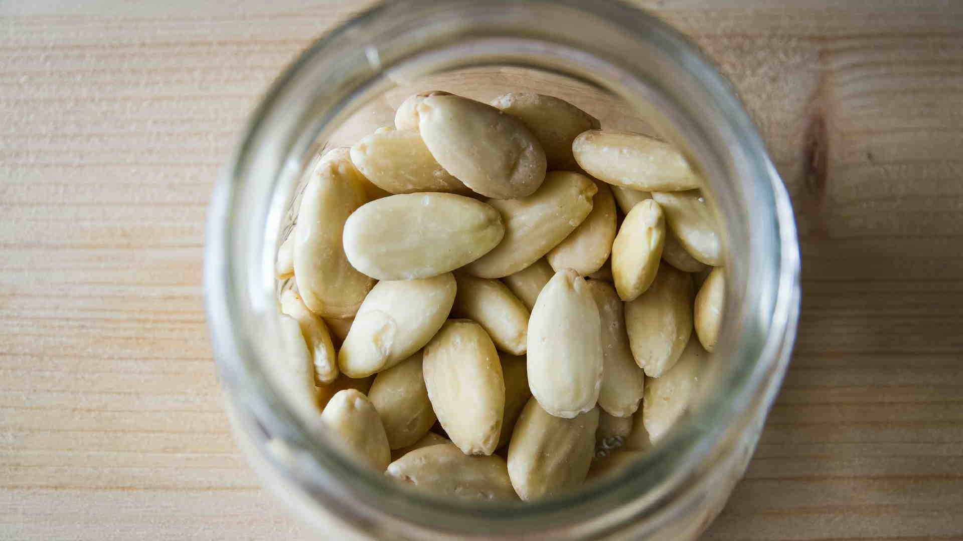 Blanched Almonds in a Jar