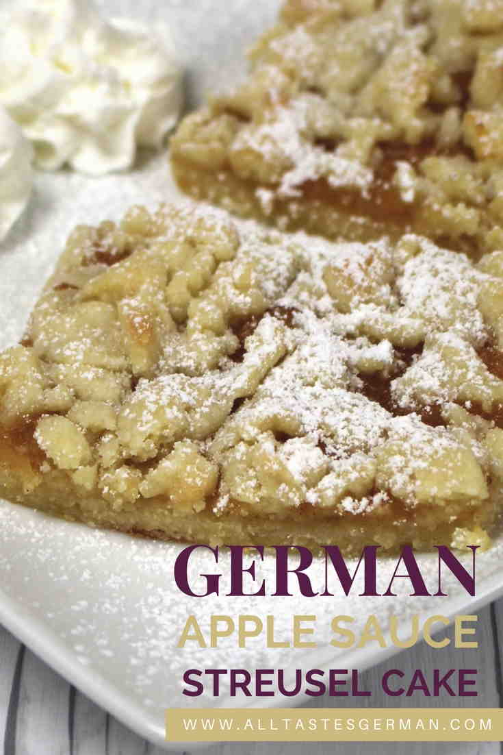 German Apple Sauce Streusel Cake Alltastesgerman Com