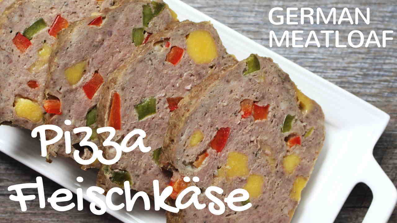 German Meatloaf Pizza Fleischkaese