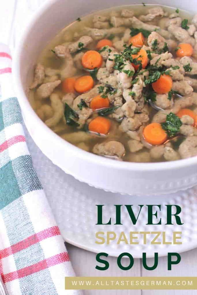 German Soup with Liver Spaetzle