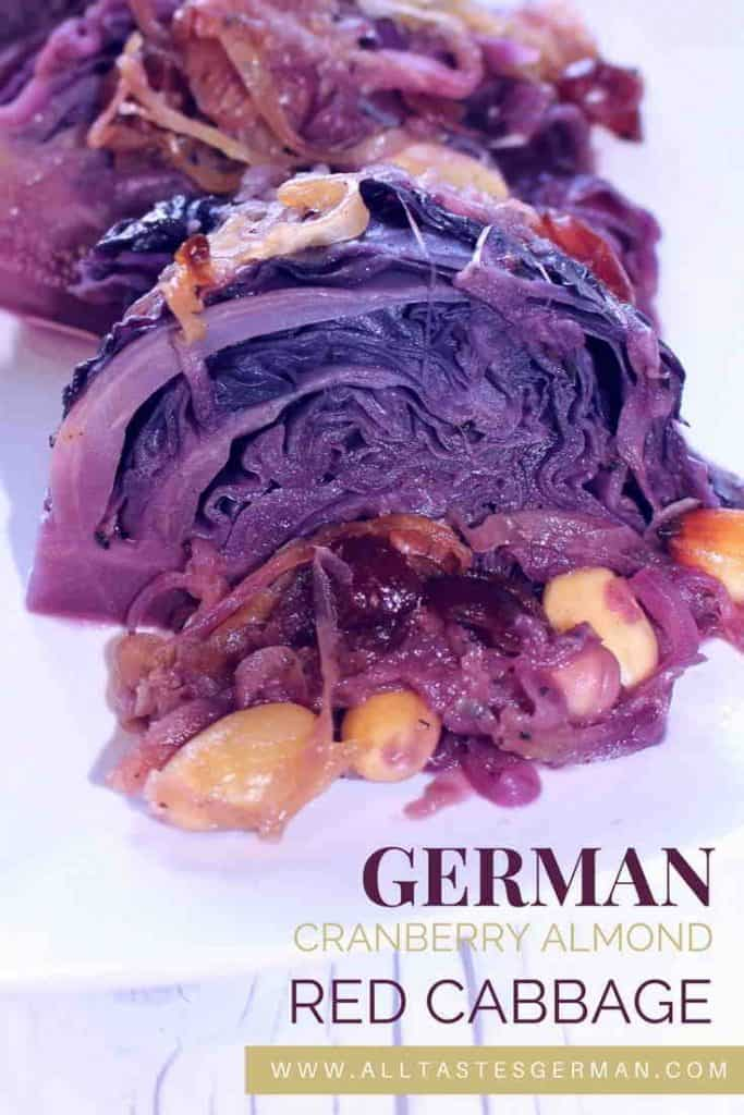New German Red Cabbage with Cranberries and Almonds