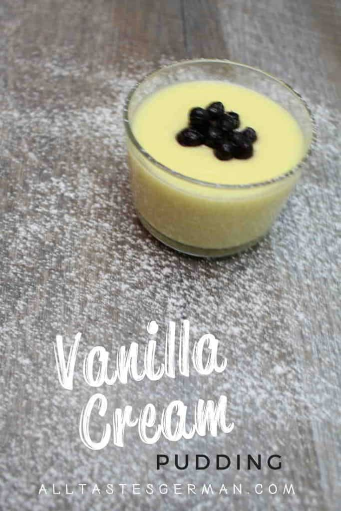 Vanilla Cream Pudding Pinterest