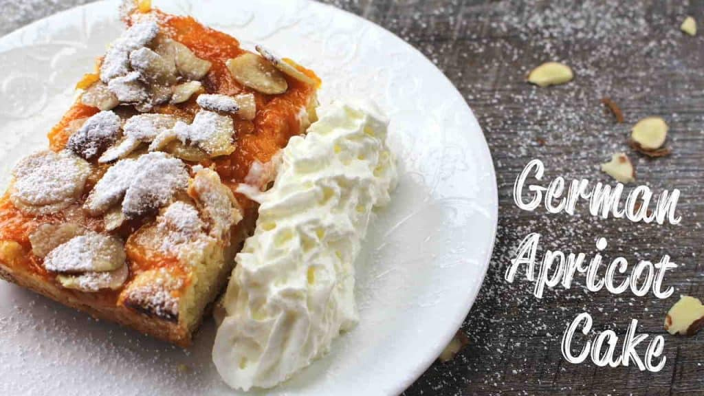 Apricot Cake with White Chocolate and Almonds