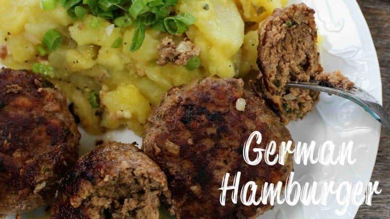 German Hamburger Meat Patties