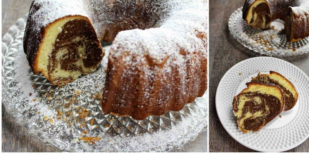 German Marble Pound Cake