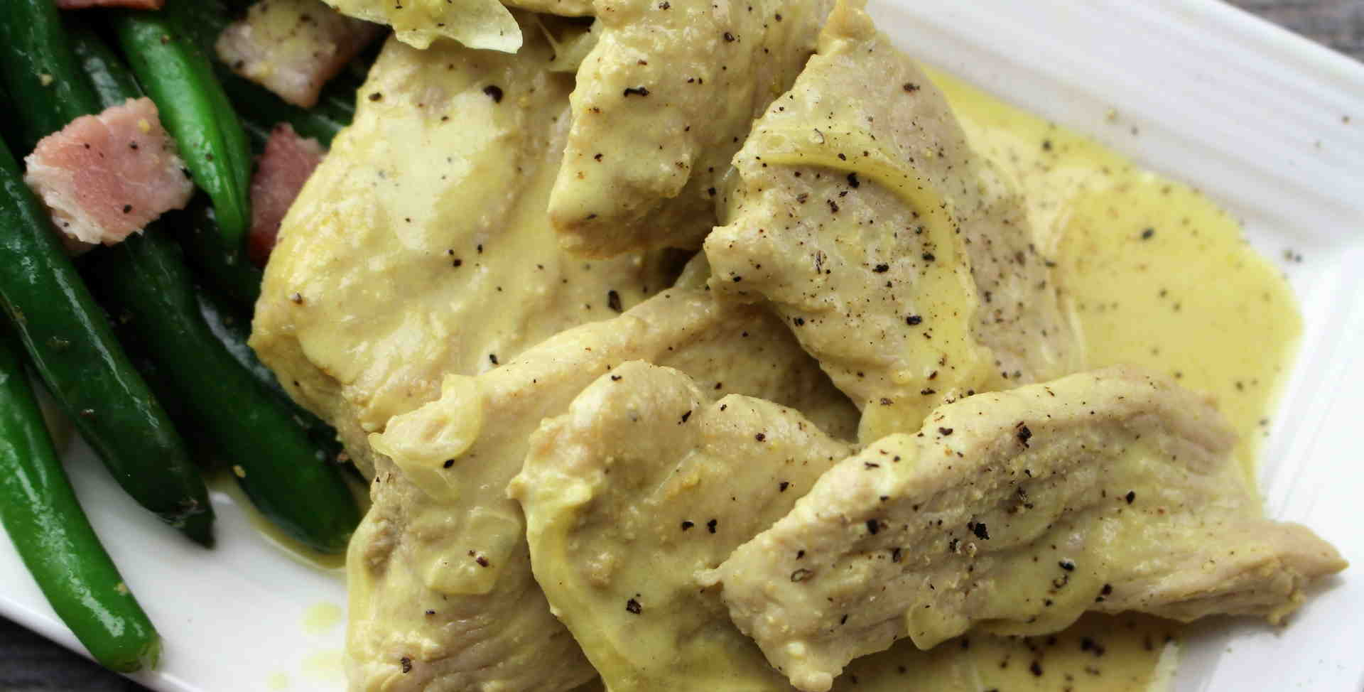 German Pork Tenderloin with Mustard Sauce