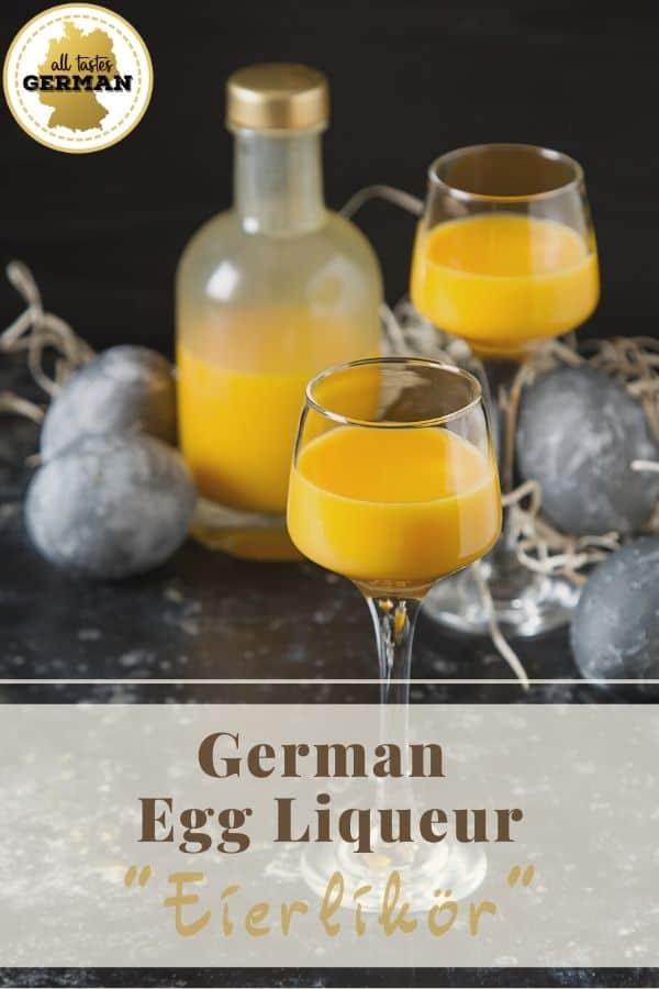 German Egg Liqueur Eierlikör Pin
