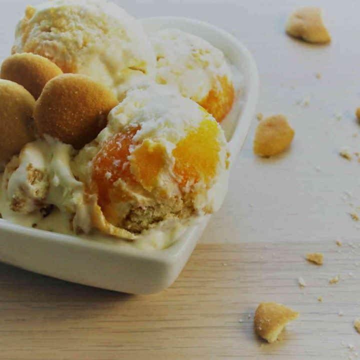 Cheese Cake Ice Cream with Mandarins