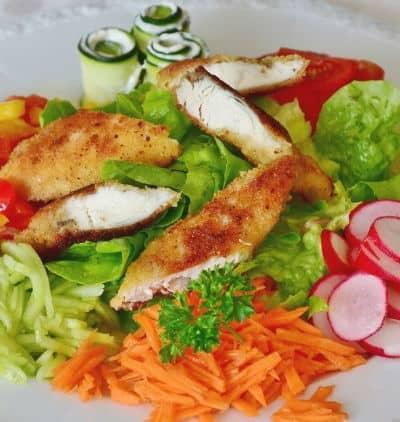 German Salad with Schnitzel 1