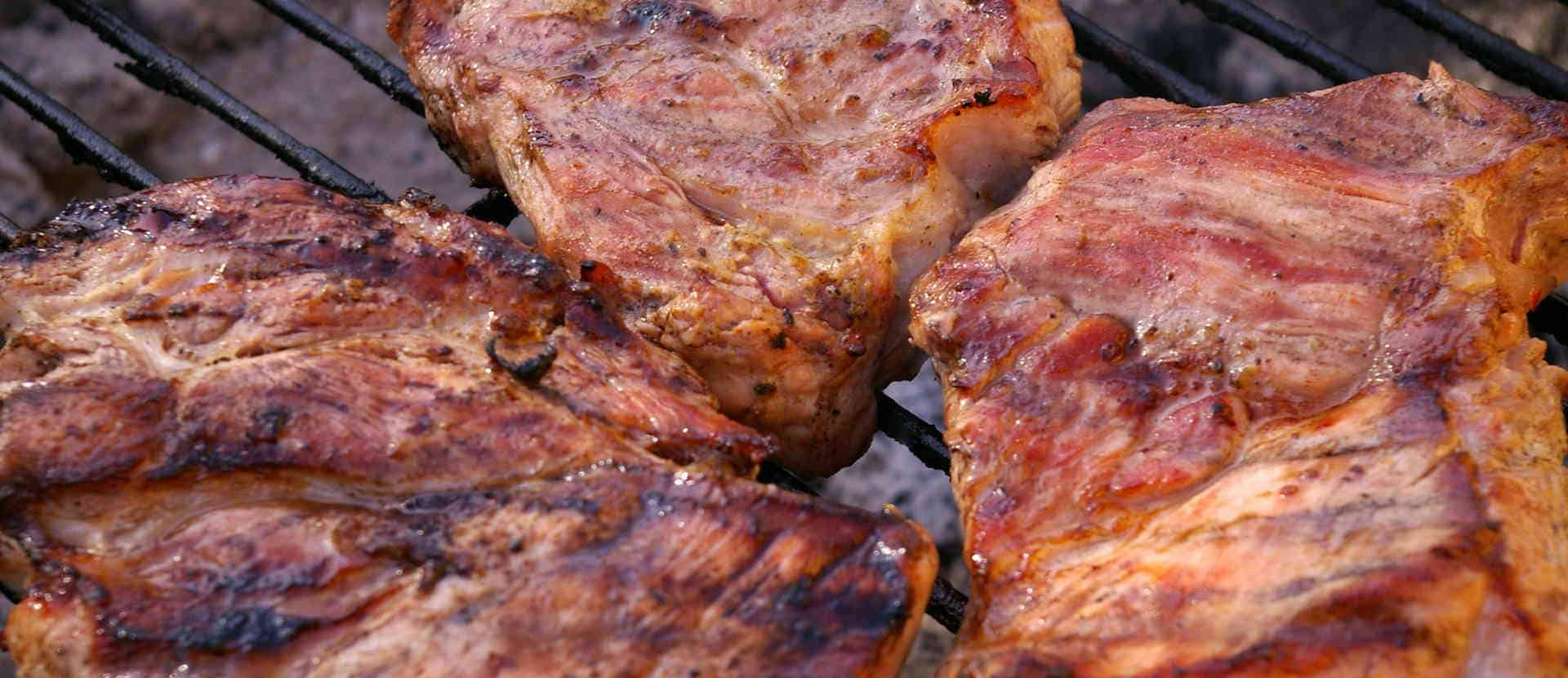 grilled german pork steaks