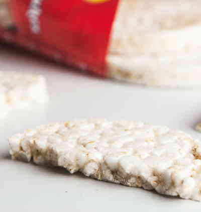 vegan tartare made from rice cakes
