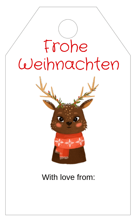 Forest Animals Gift Tag 5