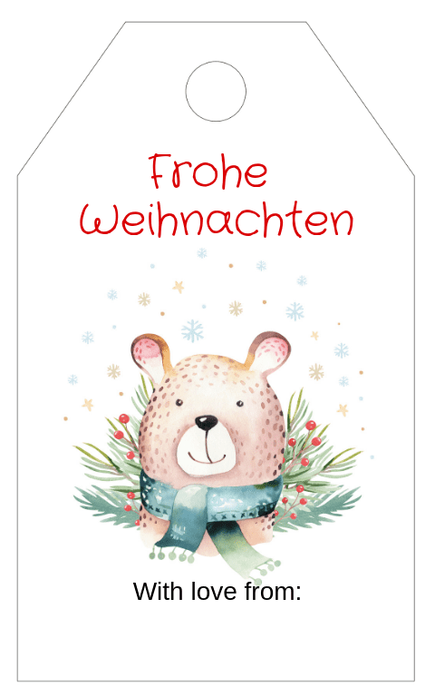 Forest Animals Gift Tag 3