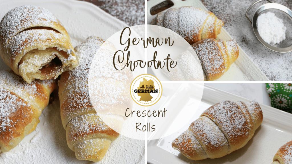 German Chocolate Crescent Rolls