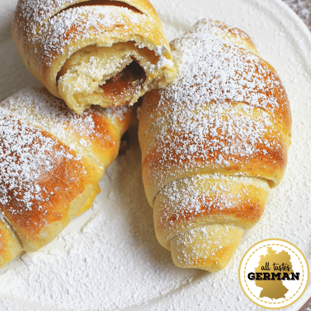 German Pastry Chocolate Crescents