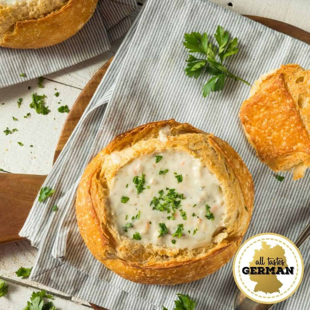 Cheese Dip in Bread Bowl