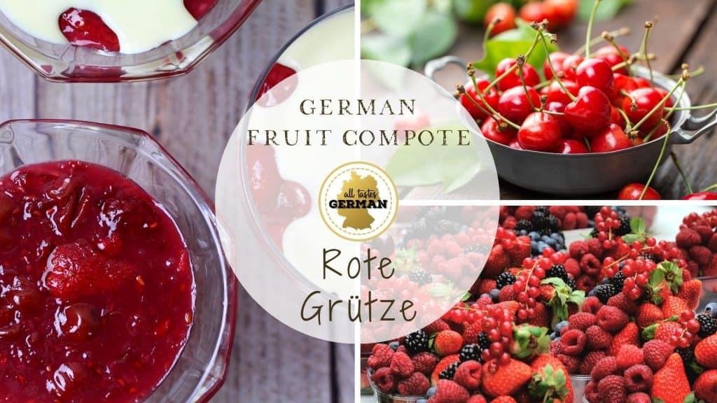 Red Fruit Compote Collage