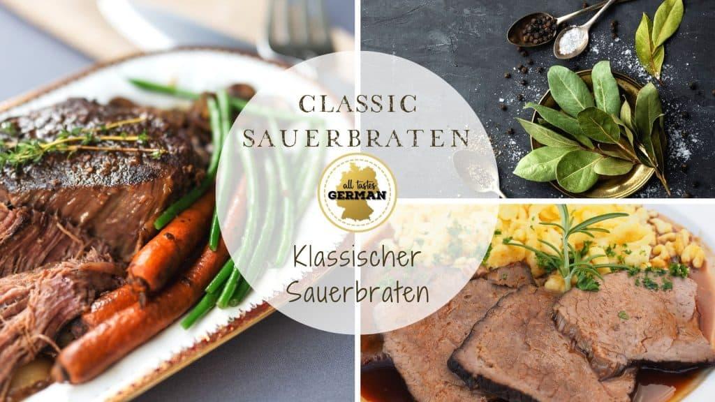 Classic Sauerbraten Collage