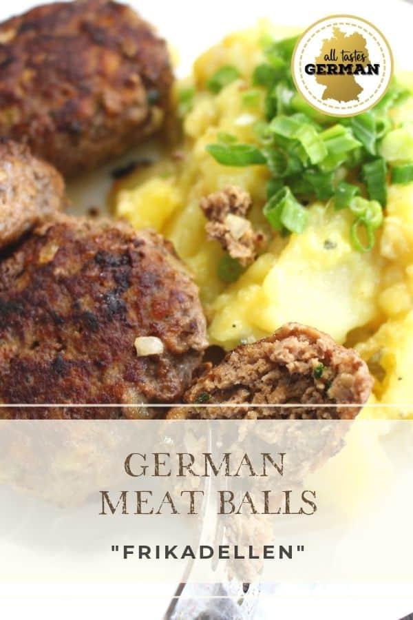 German Meat Balls with Potato Salad