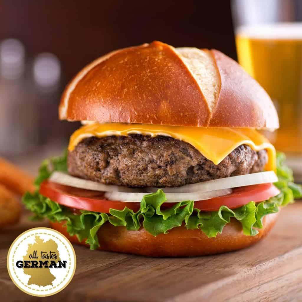 Pretzel Roll Hamburger