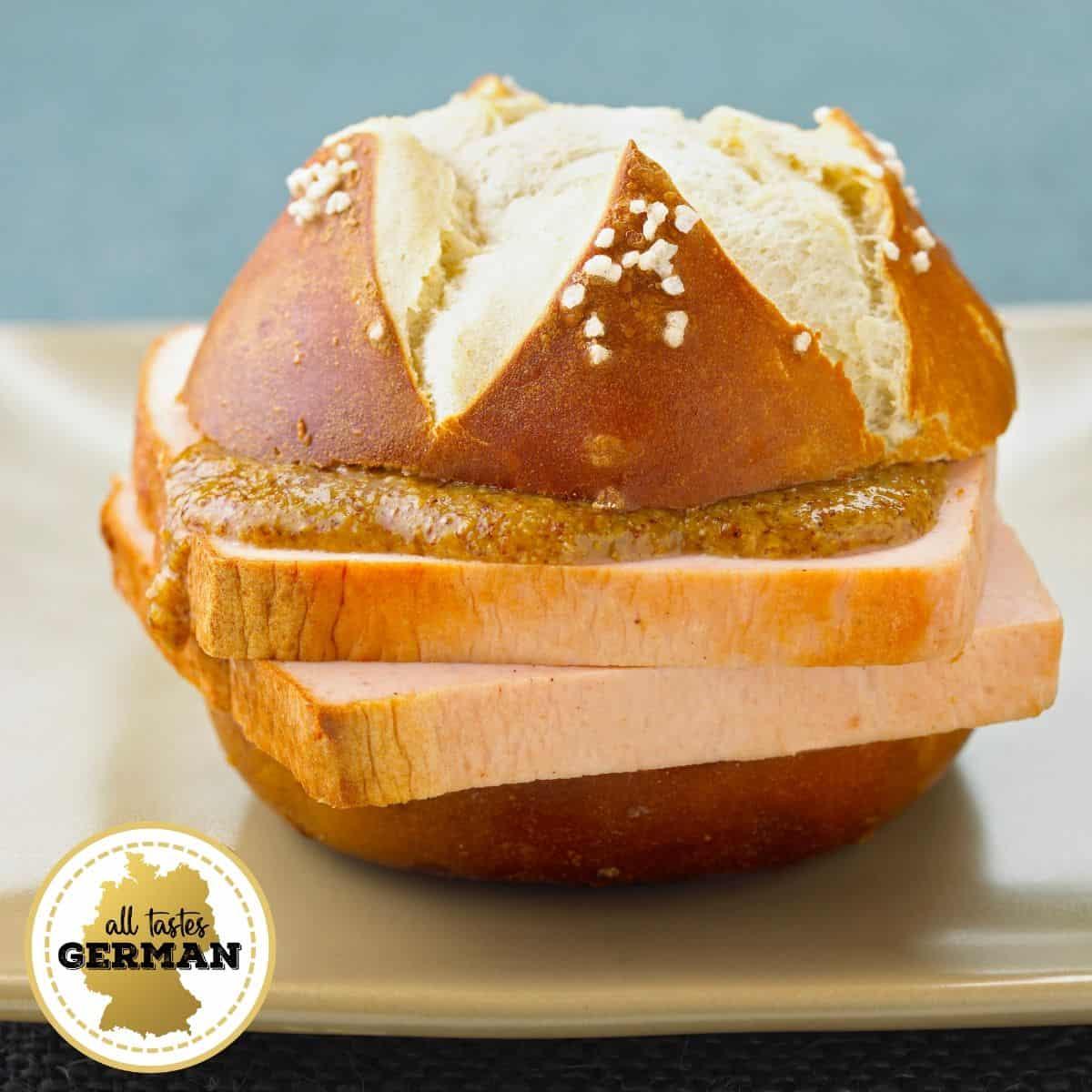 Pretzel Roll Sandwich