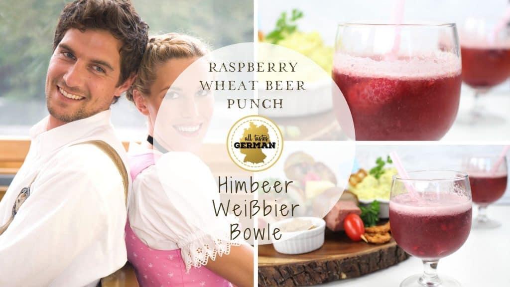 Raspberry Wheat Beer Punch