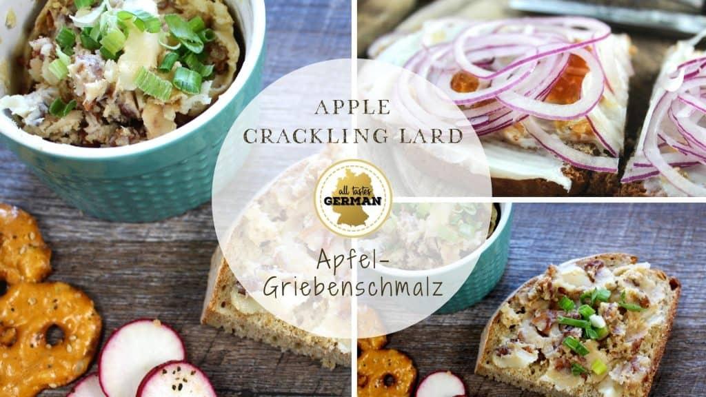 Apple Crackling Lard Collage