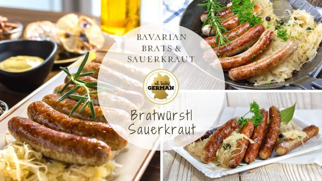 Brats Sauerkraut Collage