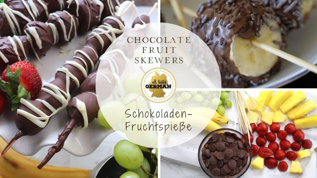 Chocolate Fruit Skewers Collage