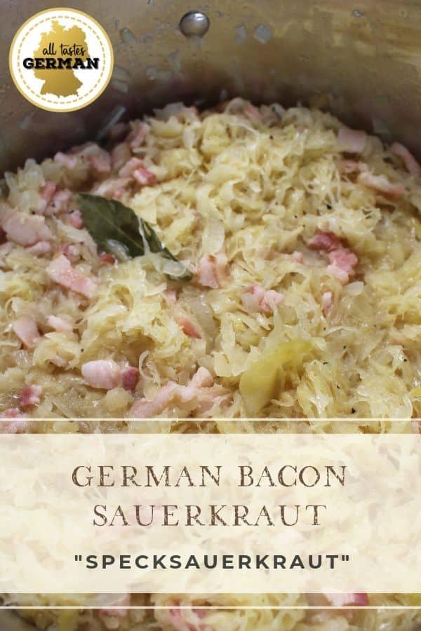 German Bacon Sauerkraut Pin