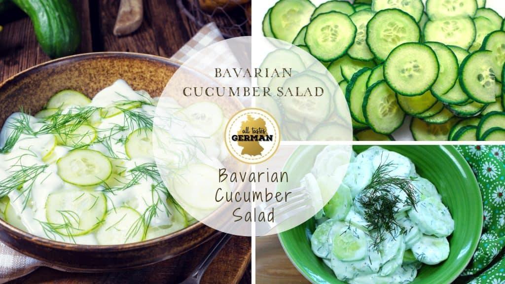 German Cucumber Salad Collage