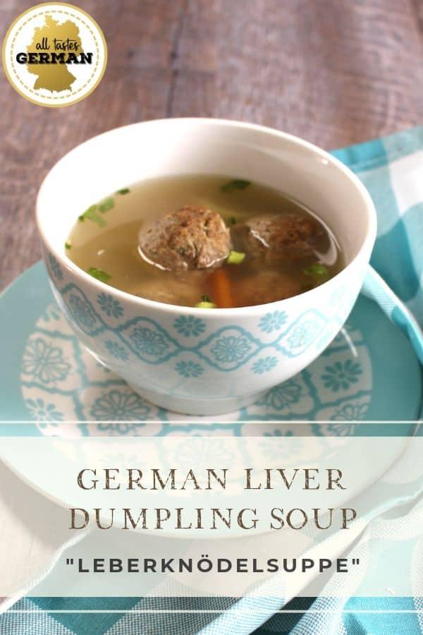 German Liver Dumpling Soup Pin