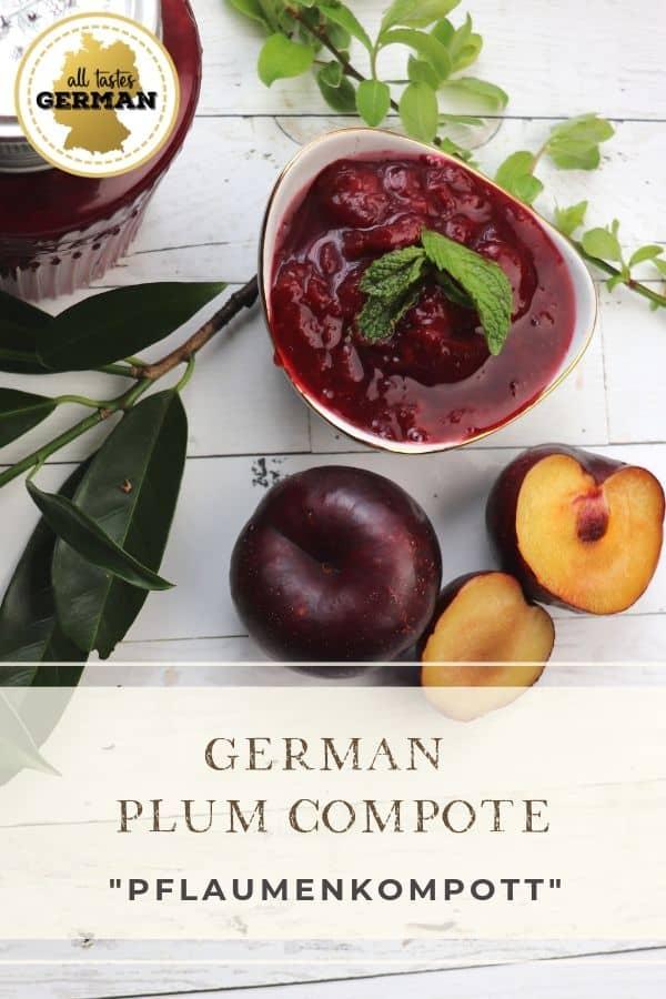 German Plum Compote Pin