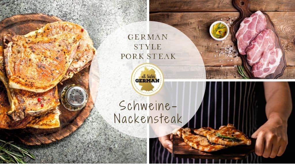 German Pork Steak Collage