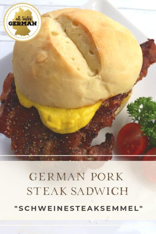 German Pork Steak Sandwich Pin