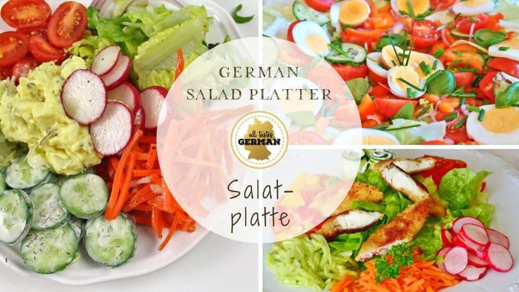 German Salad Platter Collage