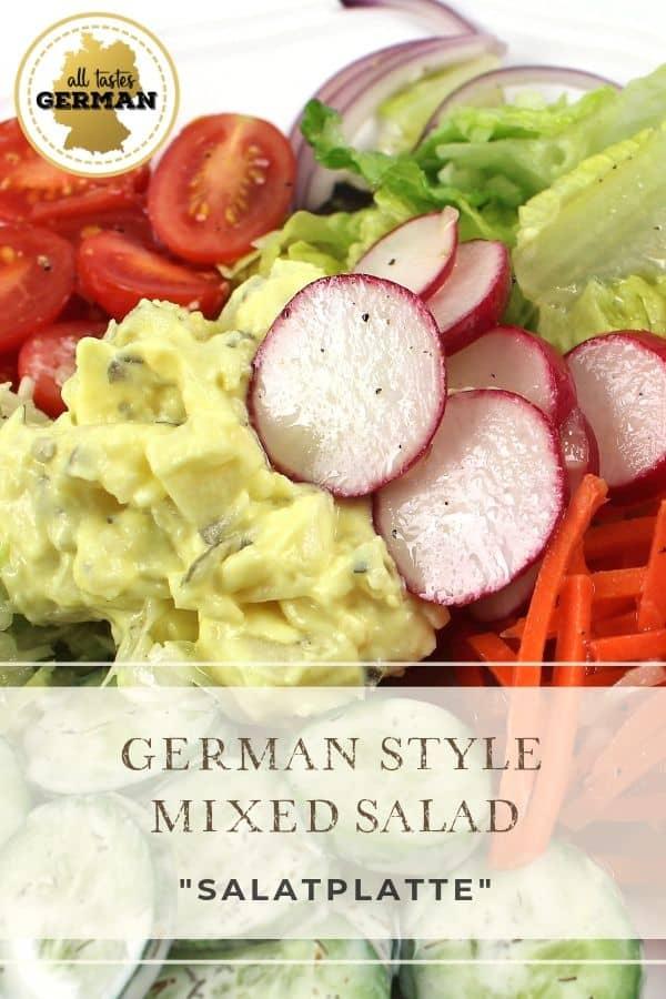German Salad Platter Pin