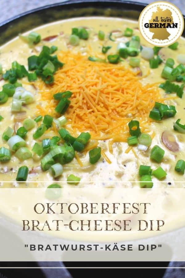 Oktoberfest Brat Cheese Dip Pin