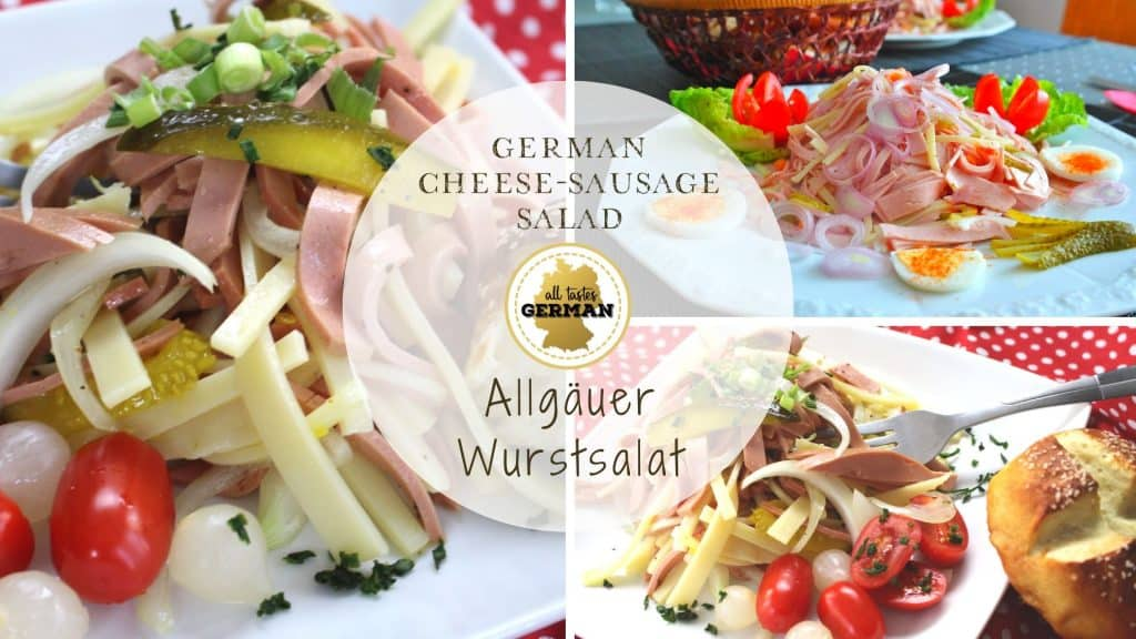 Sausage Cheese Salad Collage