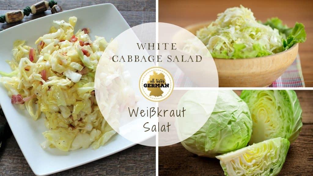 White Cabbage Salad Collage
