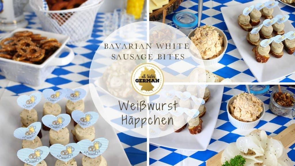 White Sausage Bites Collage