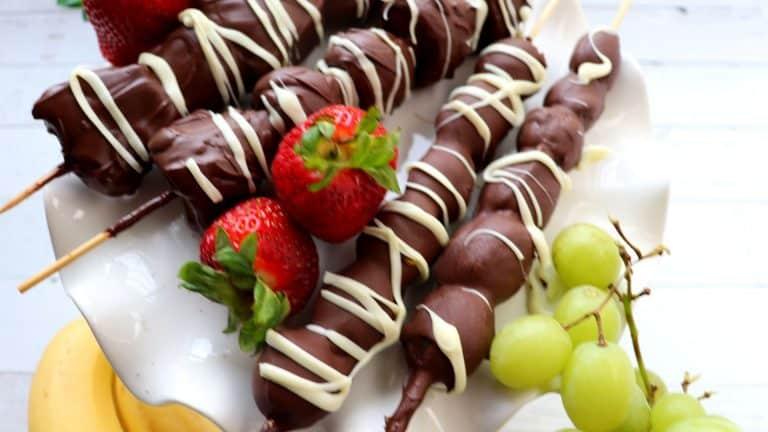 Chocolate Covered Fruit Skewers
