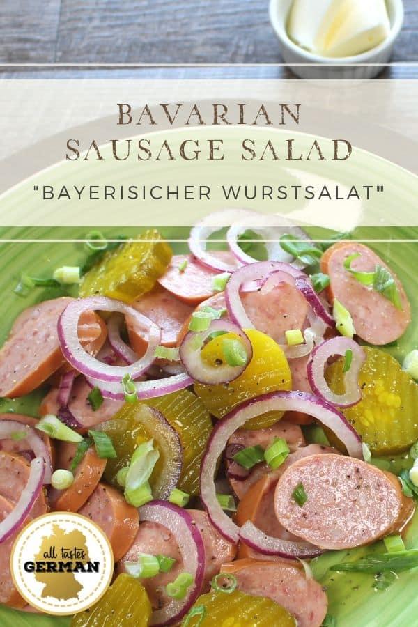 Bavarian Sausage Salad Pin