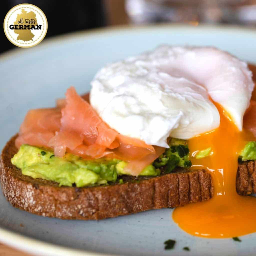 Bread with Poached Egg