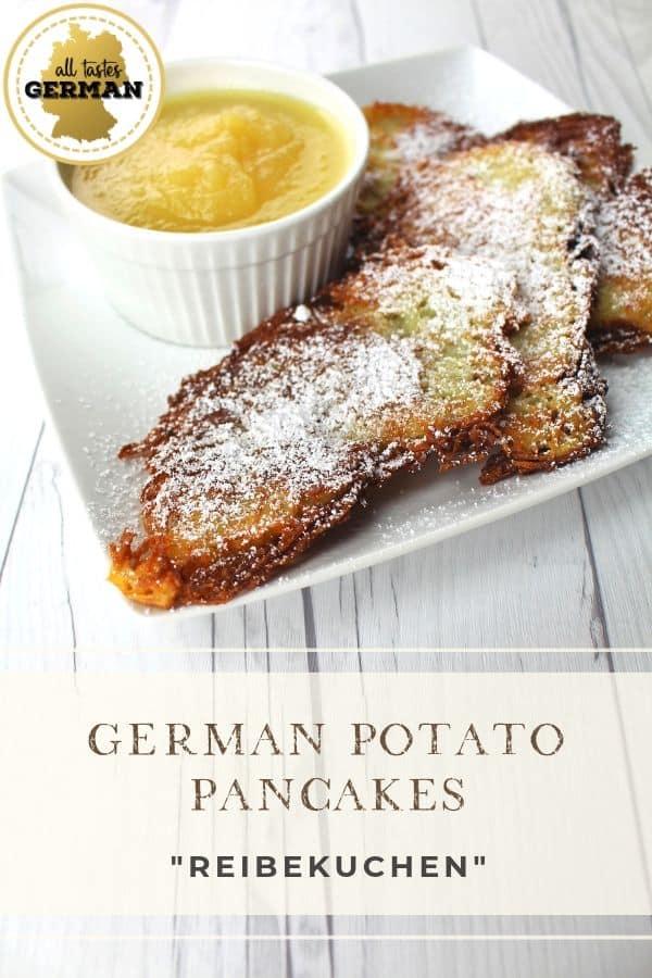 German Potato Pancakes Apple Sauce Pin