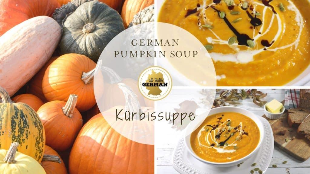 German Pumpkin Soup Collage