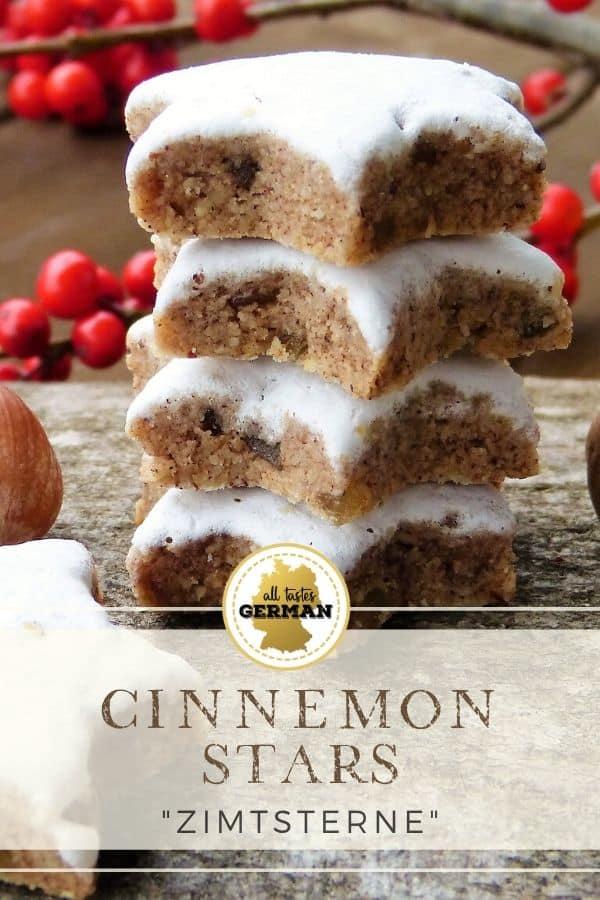 german cinnamon star cookies pin