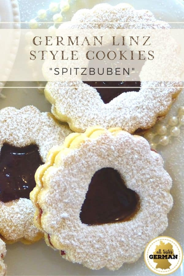 german linzer style cookies pin