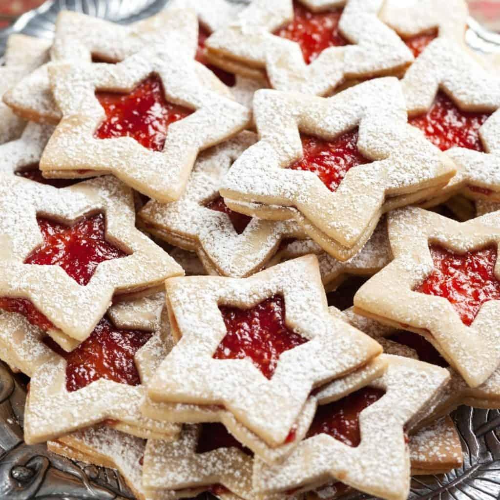 Christmas Cookies Linzer
